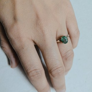 Emerald Ring Made in Nepal 92.5% Silver