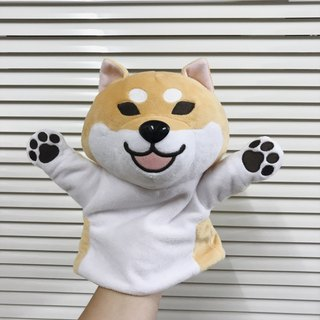 2017 new product store Shiba Inu puppet puppet / toy / doll eyes open mouth