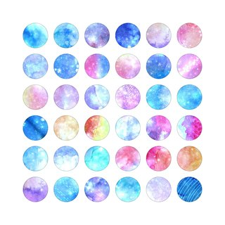Drawing declared dye - Stickers - Round -M- your little stars