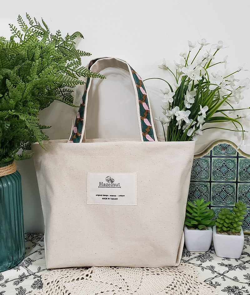 Simple plain beige green pattern bag/portable/tote bag/small bag