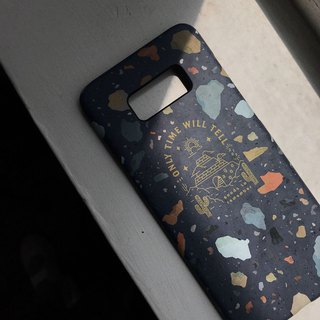 Cosmic Dark Blue Stone - Mobile Shell Samsung S8