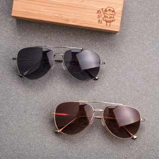 Flying sunglasses full titanium sunglasses sunglasses polarized uv400 gun frame gray large frame