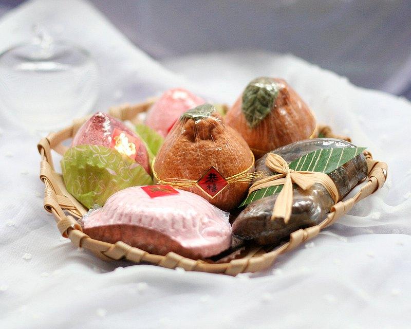 福滿門 (一組) 泡澡劑 手工皂 香皂 編織籃 肥皂 香皂 生日 禮物