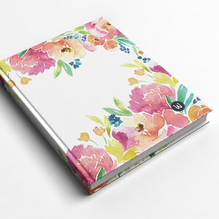 Rococo Strawberry WELKIN Handmade _ Handmade Book / Notebook / Pocket / Diary - Pink Garden