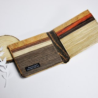 Paralife Custom Handmade Wood Mixed Cork  Short Wallet  / Purse (custom made)