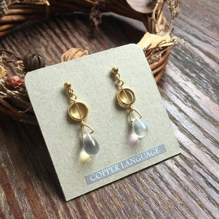 Earrings - Teardrop Series / Round White