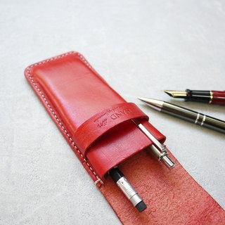 Design staff recommended wax line hand-stitched pen holder (with cover) Made by HANDIIN