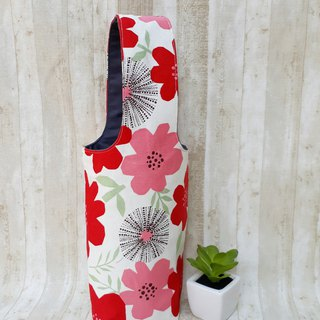 [Iceba Cup. Beverage Bag] 316.304 Stainless Steel Bottle Applicable - Wine Red Flower