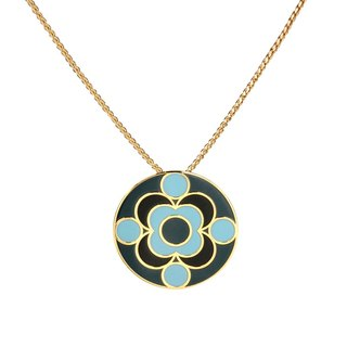 Quantum James Franck filigree enamel necklace (gold) -18,209,151,110