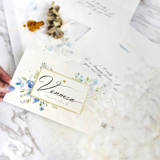 Distressed Pen English Calligraphy Customized Card