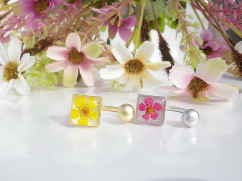 Real flower ring - epoxy resin jewelry - Ring with Dried flower