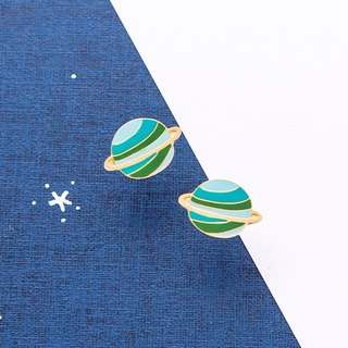 Green Planet Handmade Earrings Little OH! x Sweet Secret Joint Edition