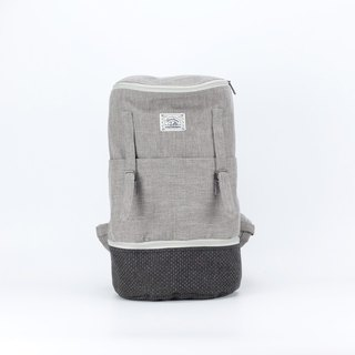 Natural Mini Zipper Grey