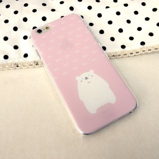 Polar Bear Pink Print Soft / Hard Case for Apple iPhone X,  iPhone 8,  iPhone 8 Plus,  iPhone 7,  iPhone 7 Plus, iPhone 5/5S, iPhone 4/4S, Samsung Galaxy Note 4 Note 3, S5, S4, S3