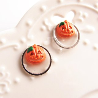 trick or treat. U-shaped ear clip stainless steel silicone ear. Halloween