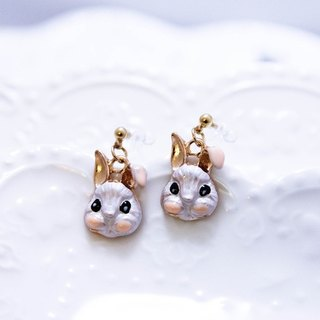 Small animal silky painless earrings