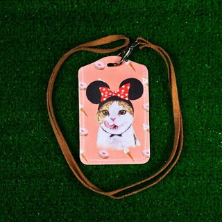 Three pussy shop ~ gluttony Minnie cat ticket holder