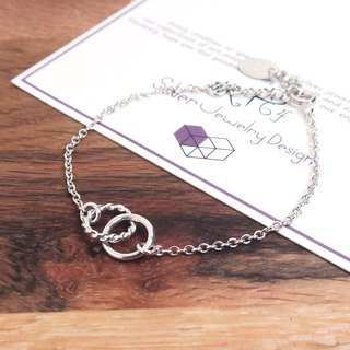 Spiral twist twist-925 sterling silver bracelet (female version)