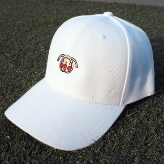 White HoHo Embroidered Cap