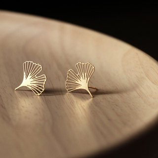 Gold Ginkgo Earrings XS Ginkgo Earrings-XS (Gold)