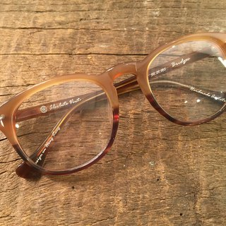 Absolute Vintage - Bridges Street (Bridges Street) pear-shaped plate frame glasses Young - Peach Peach