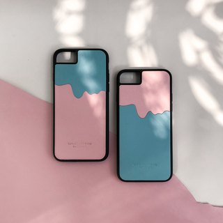 Two color Leather iPhone Case