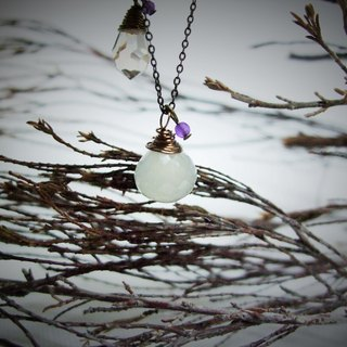 Necklace - retro flavor - Moonstone - onion