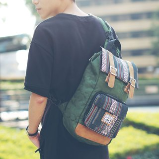 RITE twin package ║ flight bag x vintage bag (M) - special guest book section - dark green camouflage x National Coarse grid ║
