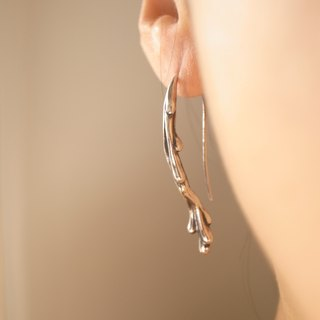 Handmade silver custom--suitable for water series / earrings