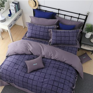 (Extra large) Moonlight-Purple Love Pick-High Quality 60 Cotton Dual-use Bed Set Four-piece Set [6*7 feet]