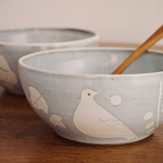 Pottery Bird Deep Bowl