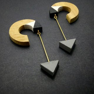 Wooden Earrings No.29
