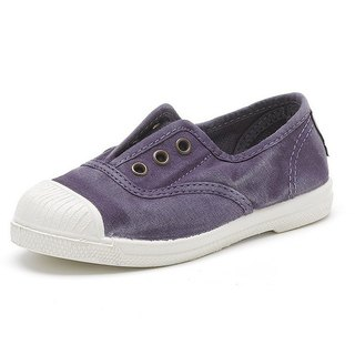 Spanish handmade canvas shoes / 470E three-hole classic / children's shoes / washed purple