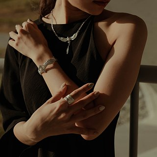 zo.craft eagle bracelet / 925 Silver
