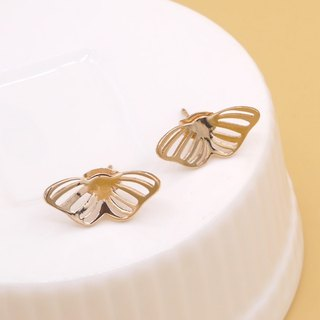 Mini Butterfly Earring - Pink gold plated on brass