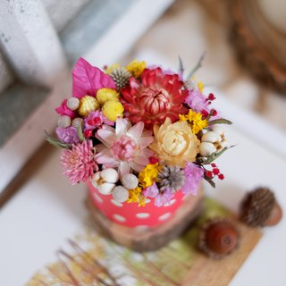 Unfinished | Red Cake Flower Dry Flower Small Potted Flower Wedding Small Objects Gift Home Decoration Photography Props Office Small Objects Christmas Exchange Gift Spot