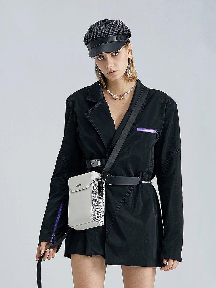 斜挎包 丨 omto原創設計破裂系列 簡約單肩包大容量小方包盒子包