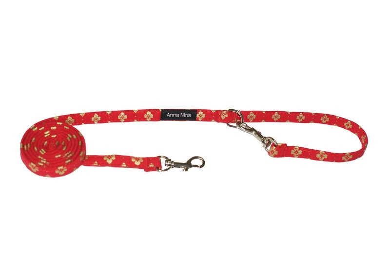Pet leash fast buckle leash cherry red emblem