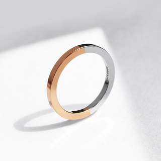 Two-Tone Minimal Ring | 18K Rose Gold
