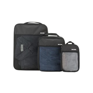 [INCASE] Modular Mesh 3 Packs mesh travel storage bag three-piece group (black)