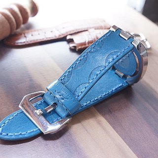 AT - Handmade - Magenta leather strap / Panerai strap (22 / 24 / 26 cm) / - (includes name and decoration buckle) Exclusive order