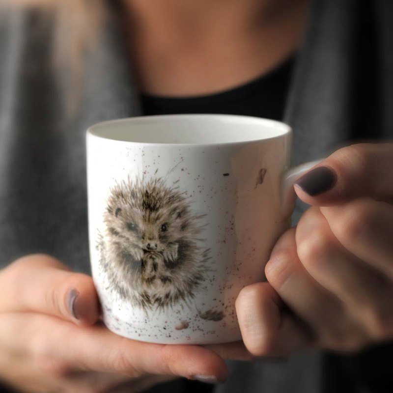 Royal Worcester Wrendale Designs Single Awakening (Hedgehog) Fine Bone China Mug