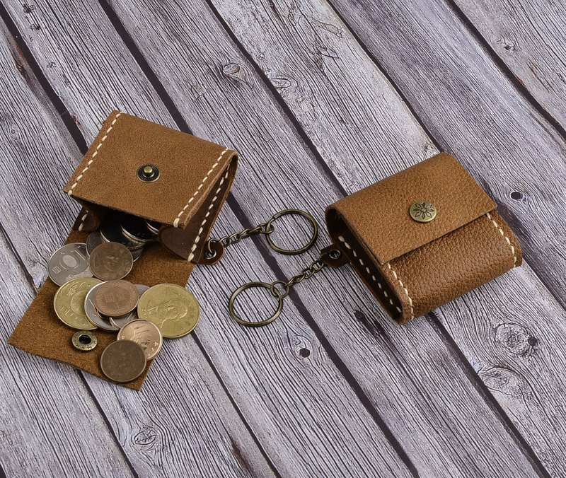 U6.JP6 handmade leather goods-hand-made leather sewing pattern leather universal bag / coin purse for men and women