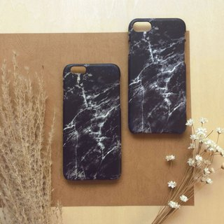 Marble Black(slightly bluish). Matte Case( iPhone, HTC, Samsung, Sony, LG, OPPO)