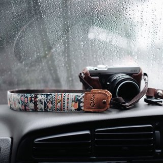 ฺBrown Denim Camera Strap