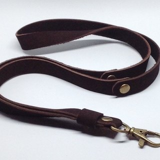 Dark brown Nubuck Leather braided lanyard, Leather keychain, leather key strap, Leather Neck Strap , Neck Lanyard unisex style