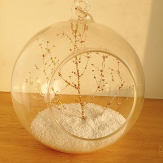 Pure natural DIY white gold time withered glass ball pot gift