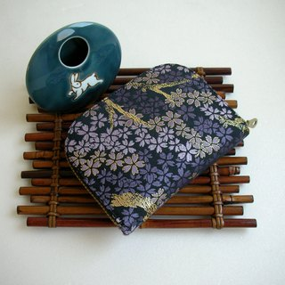 "JD, Jin Jin Jin Weaving ""Sakura"" - Short Clip / Wallet / Coin Purse / Gift"