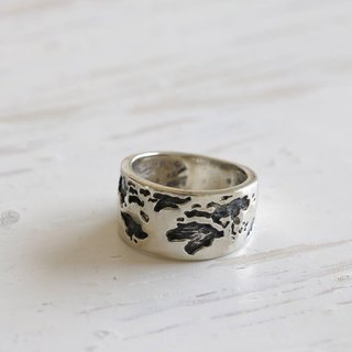 map ring jewelry world globe vintage earth traveler silver biker love tourist