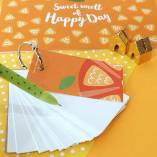 Orange wordcards